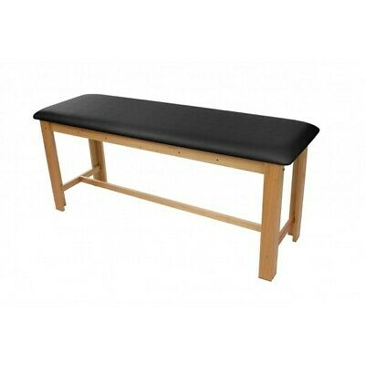 "Treatment Table - NEW H-Brace Eucalyptus Exam Table 29.5"", Black Cushion Top"
