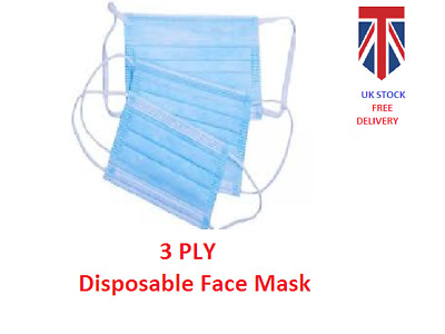 Protective Breathable Face-cover, Sealed in Pack of 10- UK STOCK - FREE DELIVERY