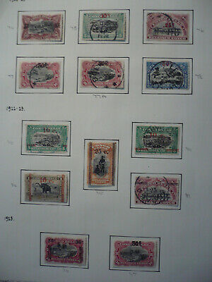 Stamps - Belgian Congo - 1922 - Sets - Scott# 74-78, 80-81, 84-87