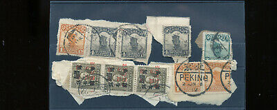 Vintage Lot of 10 China used stamps CH18