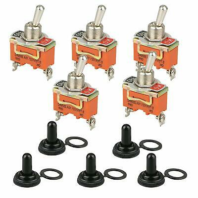 5X Toggle SWITCH ON/OFF Heavy Duty 30A 125V SPDT 2 Terminal Car Boat Waterproof