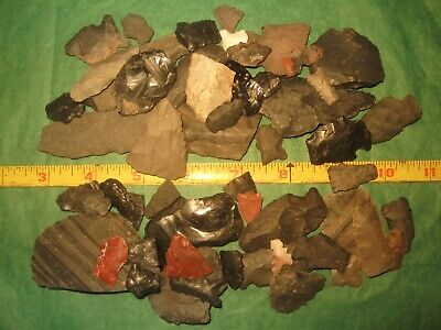 50 Southwest Prehistoric Arrowheads Tools Authentic American Indian Artifact BL1