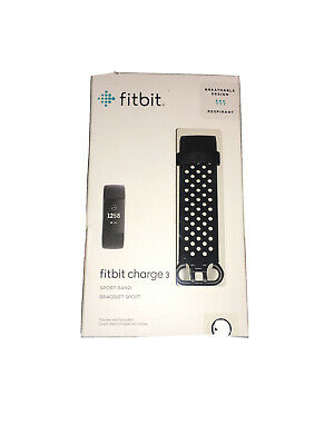 Fitbit Charge 3, Accessory Sport Band, Black, Large