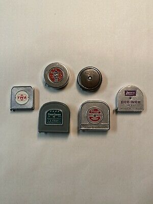 Collection vintage tape measures old tools rule Stanley Craftsman TWA LOT 6