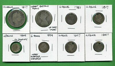Great Britain (Uk) ~ Junk Silver Lot Of .925 Silver Coins~Earlier Dates~Damaged