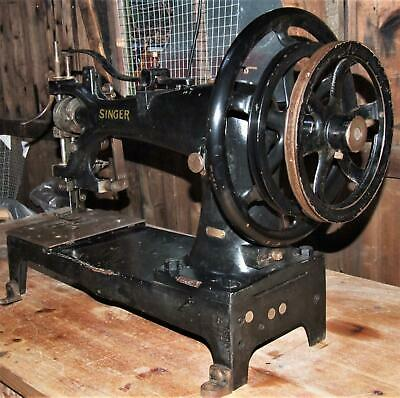 GIANT Antique Industrial SINGER SEWING MACHINE 7-27 FOR USE Shop Display MUSEUM