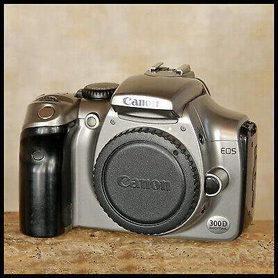 SUPER CLEAN Silver Canon EOS 300D Digital SLR Camera + charger battery manual