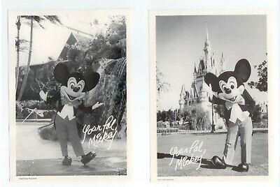 4 different late 1970s Mickey Mouse Walt Disney World Glossy B&W Photos