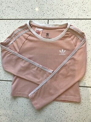 Girls Adidas Originals Cropped Long Sleeved Top Age 7-8
