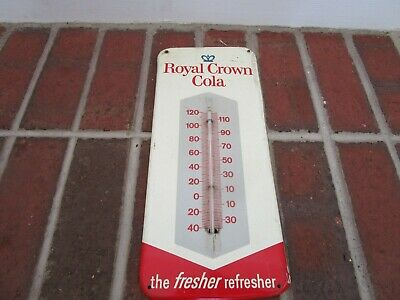 RC Cola Advertising Thermometer-Vintage 1962 Soda Royal Crown County Store