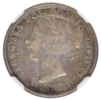 1858 Canada 20c Cents KM# 4 Choice NGC Very Fine Condition Silver Coin