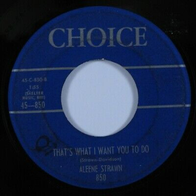 Rockabilly 45 ARLEENE STRAWN That's What I Want You to Do CHOICE HEAR