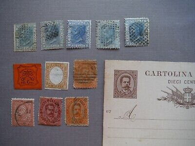 early Italy stamp lot Roman states Sardinia classic collection imperforates card