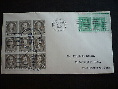 Stamps - USA - Postal History - Scott# 704 &  705 on Cover