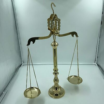 """Nautical 24"""" Brass Gold Finish Scale of Justice with Hook for Hanging"""