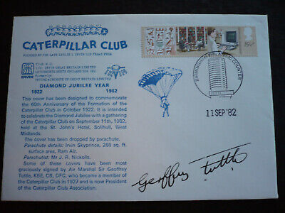 Postal History - Great Britain - Special Cover for the Caterpillar Club - 1982
