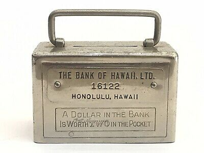 Vintage Bank of Hawaii Coin Savings Bank, Safe