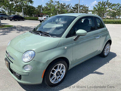 2013 FIAT 500 2dr Hatchback Pop Low Miles Clean Carfax Garage Kept Fully Loaded Dealer Serviced Mint Condition!!