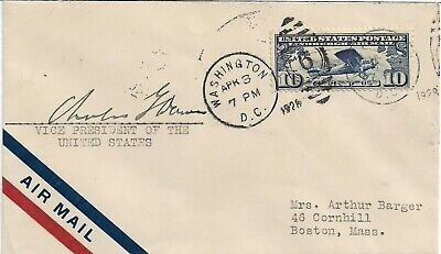 Charles Dawes - Vintage Genuine Hand Signed Airmail Cover...1928..Coa...rare...