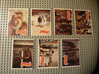 LOT OF 7 1967 Topps Planet Of The Apes Trading Cards