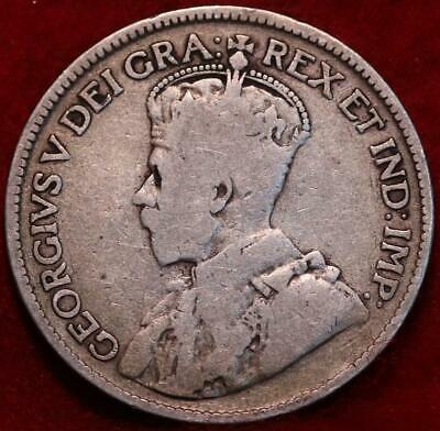 1918 Canada 25 Cents Silver Foreign Coin