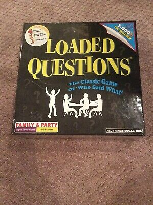 Loaded Questions Board Game Brand New Never Been Used.