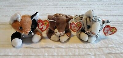 Ty Prance, Pounce & Chip Beanie Babies