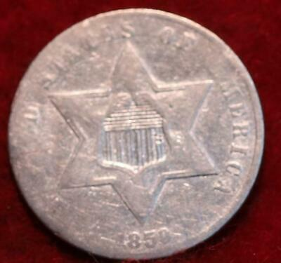 1859 Philadelphia Mint Silver Three Cent Coin