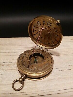 Vintage Antique Style Sundial Compass