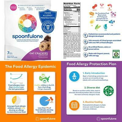 Spoonfulone Allergen Introduction Oat Crackers | Protection For Kids From Develo