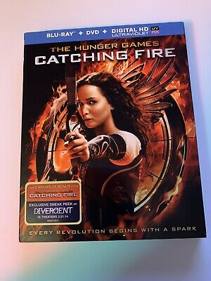 The Hunger Games: Catching Fire (Blu-ray Disc, 2014, 2-Disc Set, Includes...