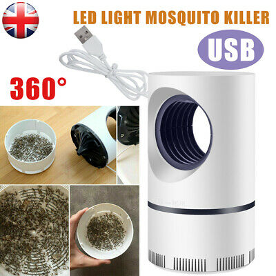 Electric UV LED Light Mosquito Killer Insect Fly-Bug Zapper Trap Catcher Lamp UK