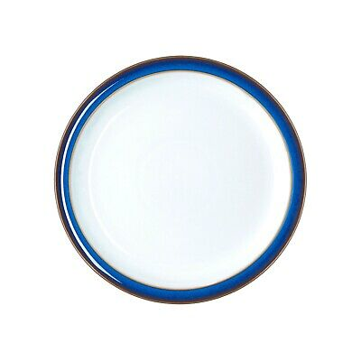 Denby Imperial Blue small tea plates, Qty 6 used
