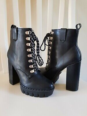 Pretty Little Thing black ankle boots size 4 brand new