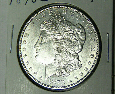 AU 1878-S Morgan Silver Dollar About Uncirculated San Francisco Mint (52620)