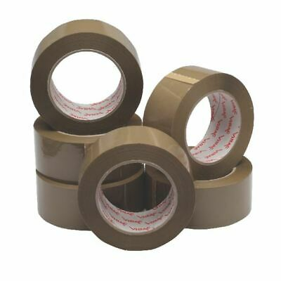 Packaging Tape 50mmx132m Brown Pk6 - JF03909
