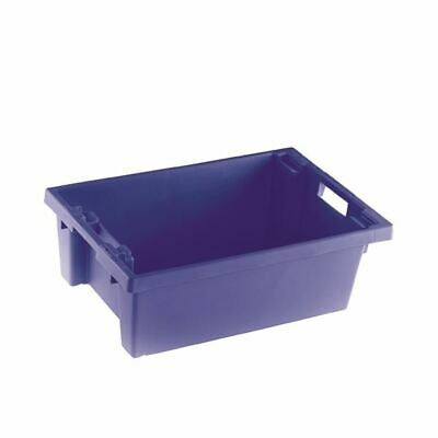 Blue Solid 600X400X200 Nesting Container - SBY24787