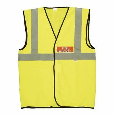 Fire Warden Yellow Vest Hi-Visibility XL - IVG09012