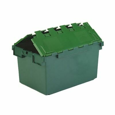 Plastic Container Green Atchd Lid 374370 - SBY27613