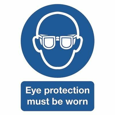Eye Protection Must be Worn A4 PVC Sign - SR11231