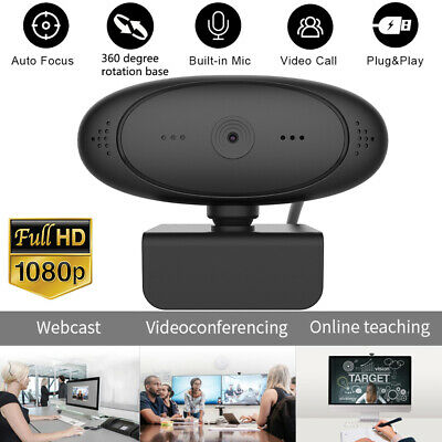 Full HD 1080P Auto Focus Webcam Built-in Microphone Camera For PC Desktop Laptop