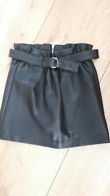 Girls river island faux leather skirt age 8 years