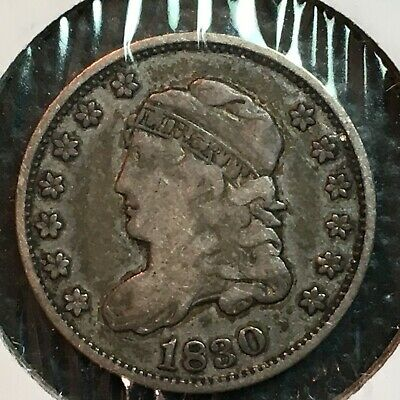 1830   Fine-VF Capped Bust  Half Dime