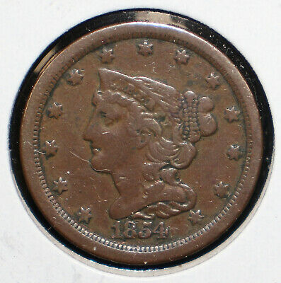 1854 Braided Hair Half Cent - 05810