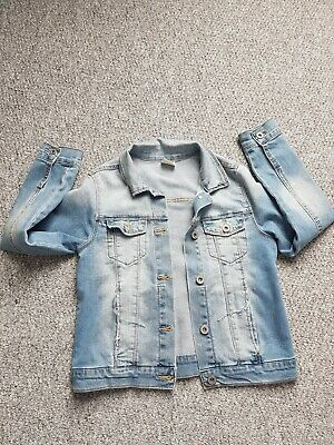 Girls Zara Denim Jacket Coat Age 9-10 Years
