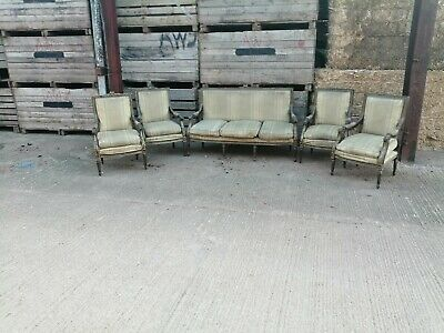 French Louis 5 PC SOFA SET AND ARMCHAIRS