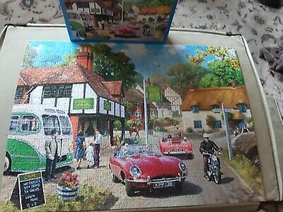 1000 Peice Gibsons Jigsaw Puzzle Title Road Side Refreshments All Complete