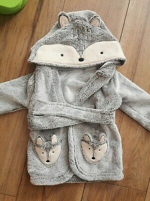 Baby Boy 3-6 Months George Fox Hooded Dressing Gown