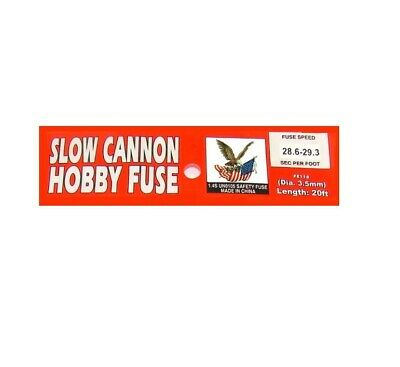 20' Slow Cannon Hobby Fuse Label 3.5 mm Red 28 seconds