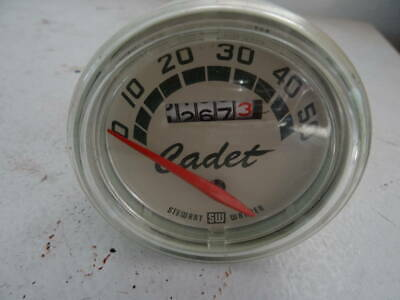 """VTG 1950'S STEWART WARNER CADET 26"""" BICYCLE 50 MPH SPEEDOMETER..with CABLE +ADS"""